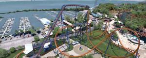 Das Layout des neuen Dive-Coasters Valravn