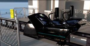 """Das """"Motorrad"""" aus der Nähe - Sky Dragster - im Skyline Park"""