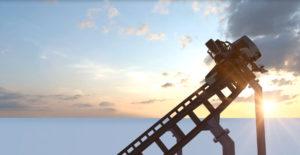 Schräglage in der Kurve - Sky Dragster im Skyline Park