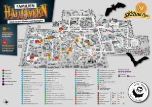 Parkplan Halloween 2016 - mit dem erweiteren Halloway Quelle: Skyline Park