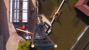 """Luftaufnahme der """"Twisted Halfpipe"""" - Quelle; Movie Park Germany"""
